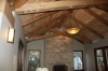 recycled douglas fir scissor trusses finished