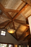 recycled douglas fir valley rafters finished