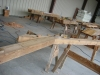 recycled douglas fir truss in the shop