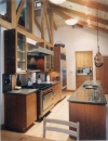 kitchen with timber frame