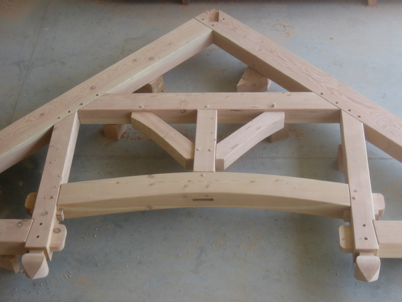 Hammer Beam Trusses Assembled In Shop Images Frompo