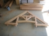 hammer beam trusses assembled in shop