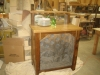 wine cave from antique oak by Larry Allen