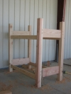 Douglas fir bunk bed designed by Terry Turney built by Tyler Turney