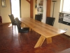 Oak conference table designed and built by Terry Turney
