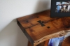 Acacia side table designed by Terry Turney built by Tyler Turney