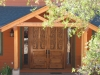 Garden Valley timber frame entry