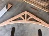Curved chord truss in shop