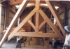 scissor trusses in Pacific Post & Beam SLO shop