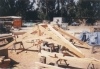 scissor trusses in Pacific Post & Beam SLO yard