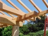 Asian timber frame joint detail