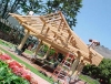 Asian timber frame pavilion raising