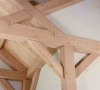 Lompoc timber frame truss detail