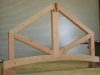 Douglas fir truss in pacific post & Beam shop