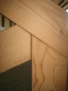 Douglas fir truss detail