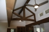 Douglas fir truss finished