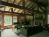 Mammoth Lakes craftsman timber frame interior