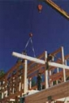Mammoth Lakes craftsman timber frame raising