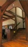 Mammoth Lakes craftsman timber frame stairway