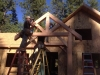 Nevada City porch timber truss