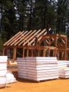 Nevada City timber frame raising