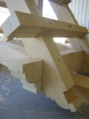 Entry trusses pre assembled in shop