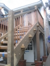 Alaska yellow cedar stairs with copper baluster