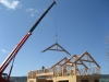 Paso Robles timber trusses installation