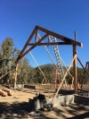 Pope Valley first truss installed