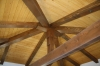 Timber frame roof detail