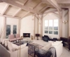 Summerland timber frame interior with white washed finish