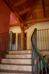 Tassajara canyon timber frame and SIP home finished interior