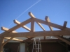 front view timber truss