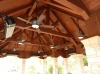 These Douglas fir trusses are in a Glendora, Ca. patio cover