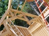 These hammerbeam trusses were designed for an addition to a home in Santa Cruz to house a pipe organ. Trusses installed
