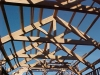 Raised chord Douglas fir truss, installed, San Luis Obispo. Ca.