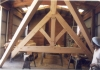 These 14/12 raised chord trusses were preassembled in the shop before disassembly and shipment to Dallas Texas.