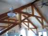 Hammer beam trusses, addition in Templeton Ca.