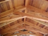 These scissor trusses in a home at lake Nacimiento are decked with salvaged western red cedar.
