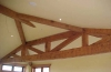 These hand hewn Sitka spruce trusses were installed a Villa Toscana in Paso Robles, California