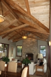 This recycled Douglas fir scissor truss is in a home in Carmel California