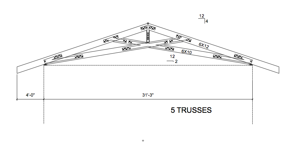 Watsonville scissor trusses pacific post beam for Scissor truss design